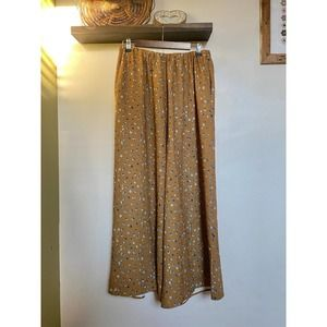 NWT Oak + Fort floral wide leg pants | L